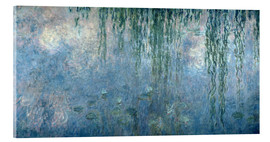 Obraz na szkle akrylowym  Waterlilies: Morning with Weeping Willows - Claude Monet