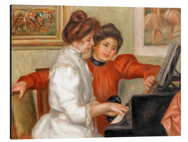 Obraz na aluminium  Yvonne and Christine Lerolle at the piano - Pierre-Auguste Renoir