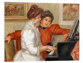 Obraz na PCV  Yvonne and Christine Lerolle at the piano - Pierre-Auguste Renoir