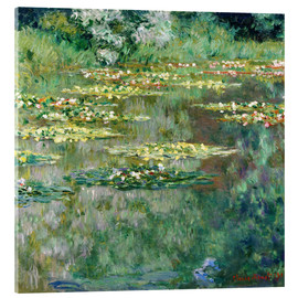 Obraz na szkle akrylowym  The waterlily pond - Claude Monet