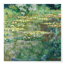 Plakat  The waterlily pond - Claude Monet
