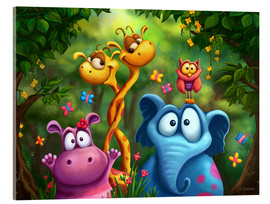 Obraz na szkle akrylowym  Jungle animals - Tooshtoosh