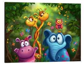 Obraz na aluminium  Jungle animals - Tooshtoosh