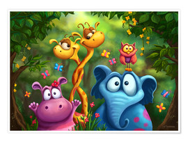 Plakat Jungle animals