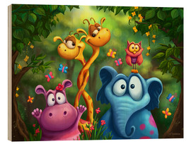 Obraz na drewnie  Jungle animals - Tooshtoosh