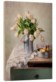 Obraz na drewnie  Still life with tulips - Nailia Schwarz