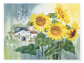 Plakat  Rays of sun flowers - Franz Heigl