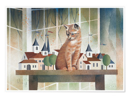 Plakat View of the cat