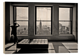 Obraz na drewnie  New York, Top of the Rock - Thomas Splietker