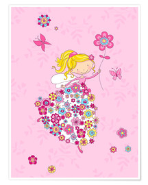 Plakat Flower Princess