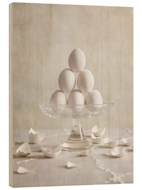 Obraz na drewnie  Still Life with Eggs - Nailia Schwarz