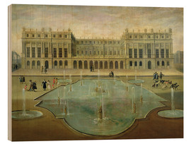 Obraz na drewnie  Chateau de Versailles from the Garden Side - French School