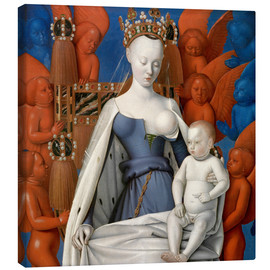 Obraz na płótnie  Virgin and Child Surrounded by Angels - Jean Fouquet