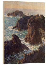 Obraz na drewnie  The Rocks of Belle-Ile - Claude Monet