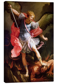 Obraz na płótnie  The archangel Michael defeating Satan - Guido Reni