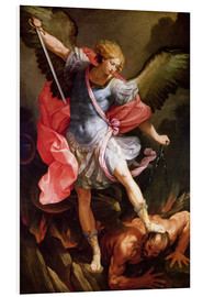 Obraz na PCV  The archangel Michael defeating Satan - Guido Reni