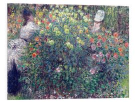 Obraz na PCV  Women in the Flowers - Claude Monet