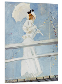 Obraz na PCV  Young woman with umbrella at the pier - Paul Cesar Francois Helleu