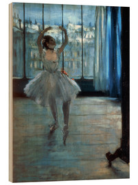 Obraz na drewnie  Dancer in Front of a Window - Edgar Degas