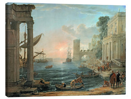 Obraz na płótnie  Seaport with the Embarkation of the Queen of Sheba - Claude Lorrain