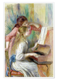Plakat Young Girls at the Piano