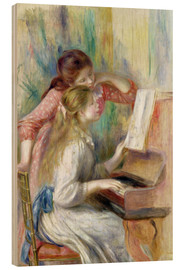 Obraz na drewnie  Young Girls at the Piano - Pierre-Auguste Renoir