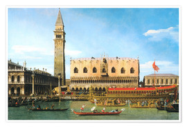 Plakat  The Bucintoro at the Molo on Ascension Day - Antonio Canaletto