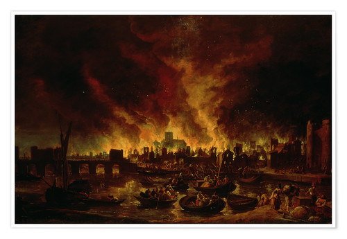 Plakat The Great Fire of London in 1666