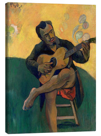Obraz na płótnie  The Guitar Player - Paul Gauguin