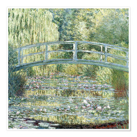 Plakat  Water lily pond in green - Claude Monet