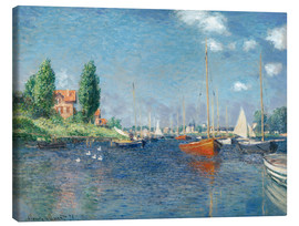 Obraz na płótnie  Red boats at Argenteuil - Claude Monet