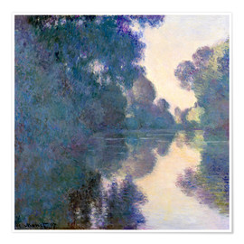 Plakat  Morning on the Seine - Claude Monet