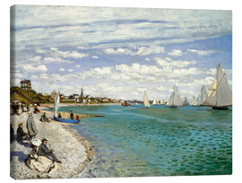 Obraz na płótnie  Regatta at Sainte-Adresse - Claude Monet