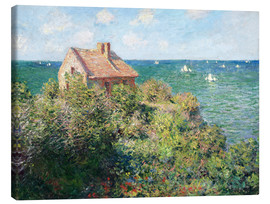 Obraz na płótnie  Fisherman's Cottage on the Cliffs at Varengeville - Claude Monet