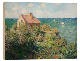 Obraz na drewnie  Fisherman's Cottage on the Cliffs at Varengeville - Claude Monet