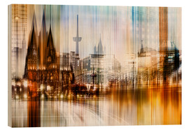Obraz na drewnie  Germany Collonge Köln skyline - Städtecollagen