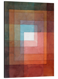 Obraz na aluminium  White framed polyphonically - Paul Klee
