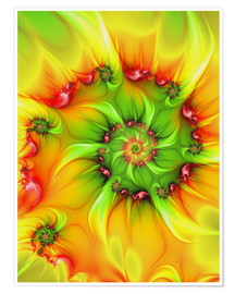 Plakat Fractal 'On a hot summer day'