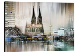 Obraz na aluminium  Abstract skyline in Cologne, Germany - Städtecollagen