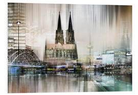 Obraz na PCV  Abstract skyline in Cologne, Germany - Städtecollagen