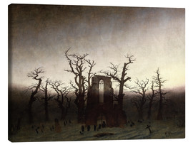 Obraz na płótnie  The Abbey in the Oakwood - Caspar David Friedrich