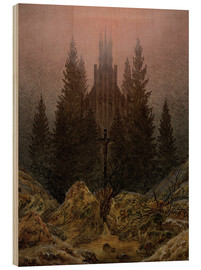 Obraz na drewnie  Crucifix in Forest - Caspar David Friedrich