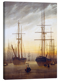 Obraz na płótnie  View of a harbor - Caspar David Friedrich