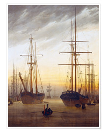 Plakat View of a harbor