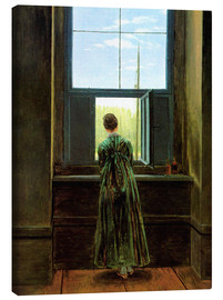 Obraz na płótnie  Woman at the window - Caspar David Friedrich