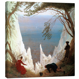 Obraz na płótnie  Chalk Cliffs on Rügen - Caspar David Friedrich