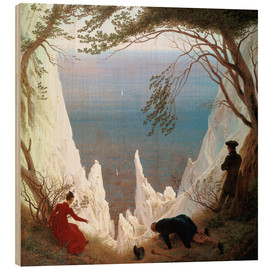 Obraz na drewnie  Chalk Cliffs on Rügen - Caspar David Friedrich