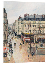 Obraz na szkle akrylowym  The Rue Saint-Honoré in the Afternoon - Camille Pissarro