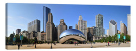 Obraz na płótnie  Panorama Millenium Park in Chicago mit Cloud Gate - HADYPHOTO