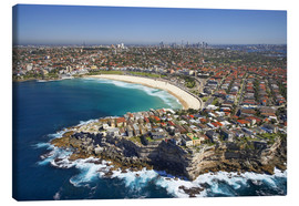 Obraz na płótnie  Aerial view of Bondi Beach - David Wall